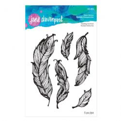 Jane Davenport - Artomology - Clear Stamp Set - Floating Feathers